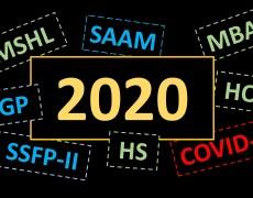 COVID, MSHL, MBA, HS, HO, GP, SSFP-II, SAAM … DAS WAR 2020